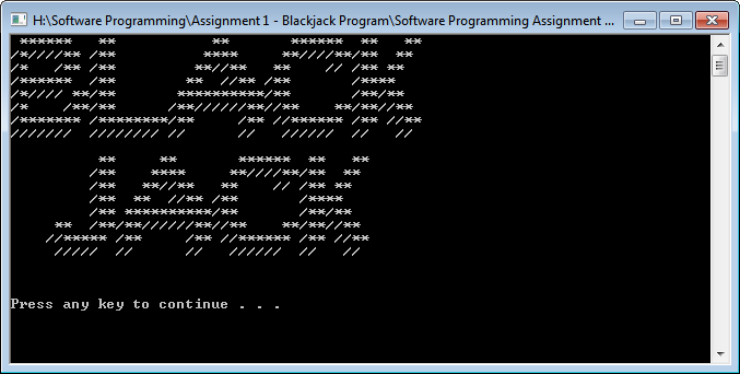 blackjack game c++