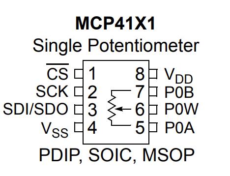 MCP4131 Pins
