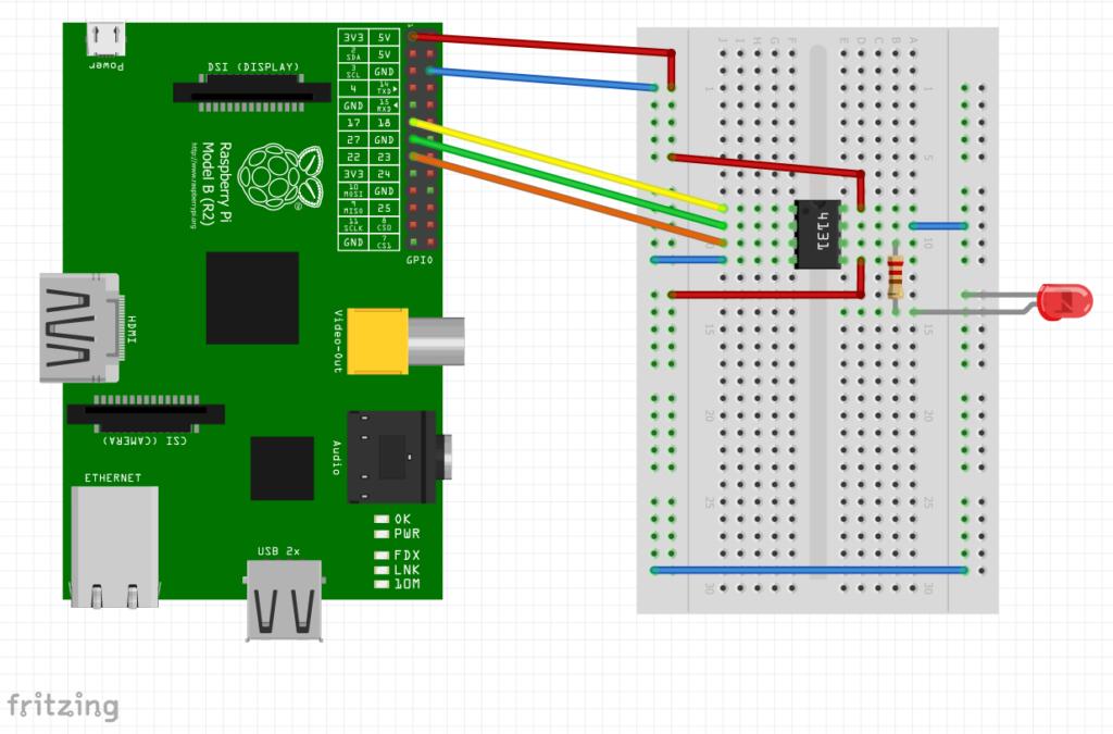 MCP4131 Raspberry Pi PCB/Breadboard Layout